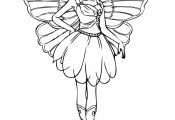 Barbie Fairy Coloring Pages Barbie Fairy Coloring Pages