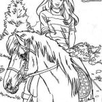 Barbie Horse Coloring Pages Barbie Horse Coloring Pages