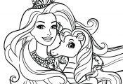 Barbie Princess Coloring Pages Barbie Princess Coloring Pages