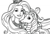 Barbie Princess Coloring Pages Printable Barbie Princess Coloring Pages Printable