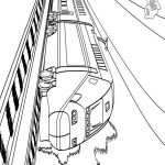 big train coloring pages