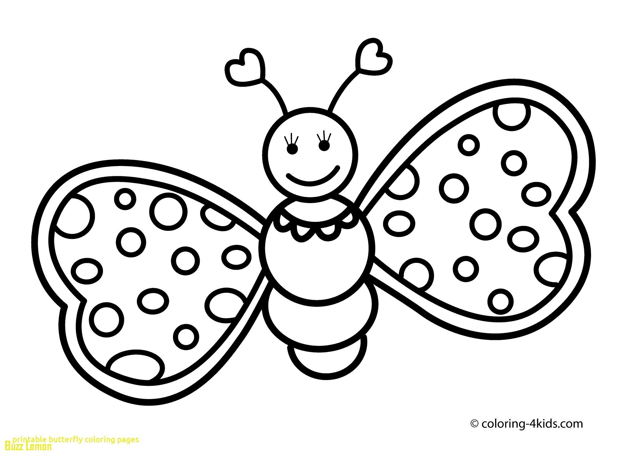 butterfly Coloring Pages for Girls - BubaKids.com