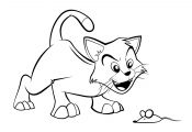 Cartoon Cat Coloring Pages Cartoon Cat Coloring Pages