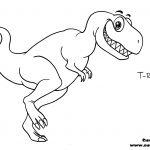 Cartoon T-rex Coloring Page Cartoon T-rex Coloring Page