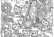 Cat Coloring Pages for Adults Cat Coloring Pages for Adults