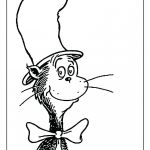 Cat In the Hat Face Coloring Pages Cat In the Hat Face Coloring Pages
