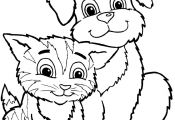 Cats and Dogs Coloring Pages Cats and Dogs Coloring Pages