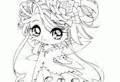 Chibi Princess Coloring Pages Chibi Princess Coloring Pages