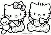 children coloringbookhellokitty | Baby Hello Kitty Coloring Pages >> Disney Colo...