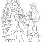Christmas Princess Coloring Page Christmas Princess Coloring Page
