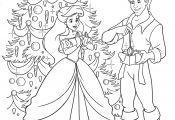 Christmas Princess Coloring Page Christmas Princess Coloring Page