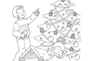 christmas train coloring pages tree in the house thomas the tank engine christma...
