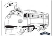 chuggington coloring pages | chuggington wilson train coloring pages