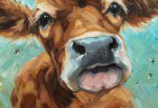 Colorful Farm Animal Paintings Colorful Farm Animal Paintings