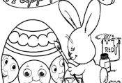 coloring cartoon Easter face | … Easter coloring pictures of Thomas the train ...