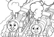 coloring page Thomas the Train Kids-n-Fun