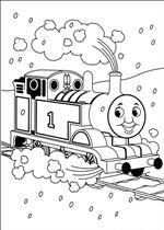 coloring page Thomas the Train Wallpaper