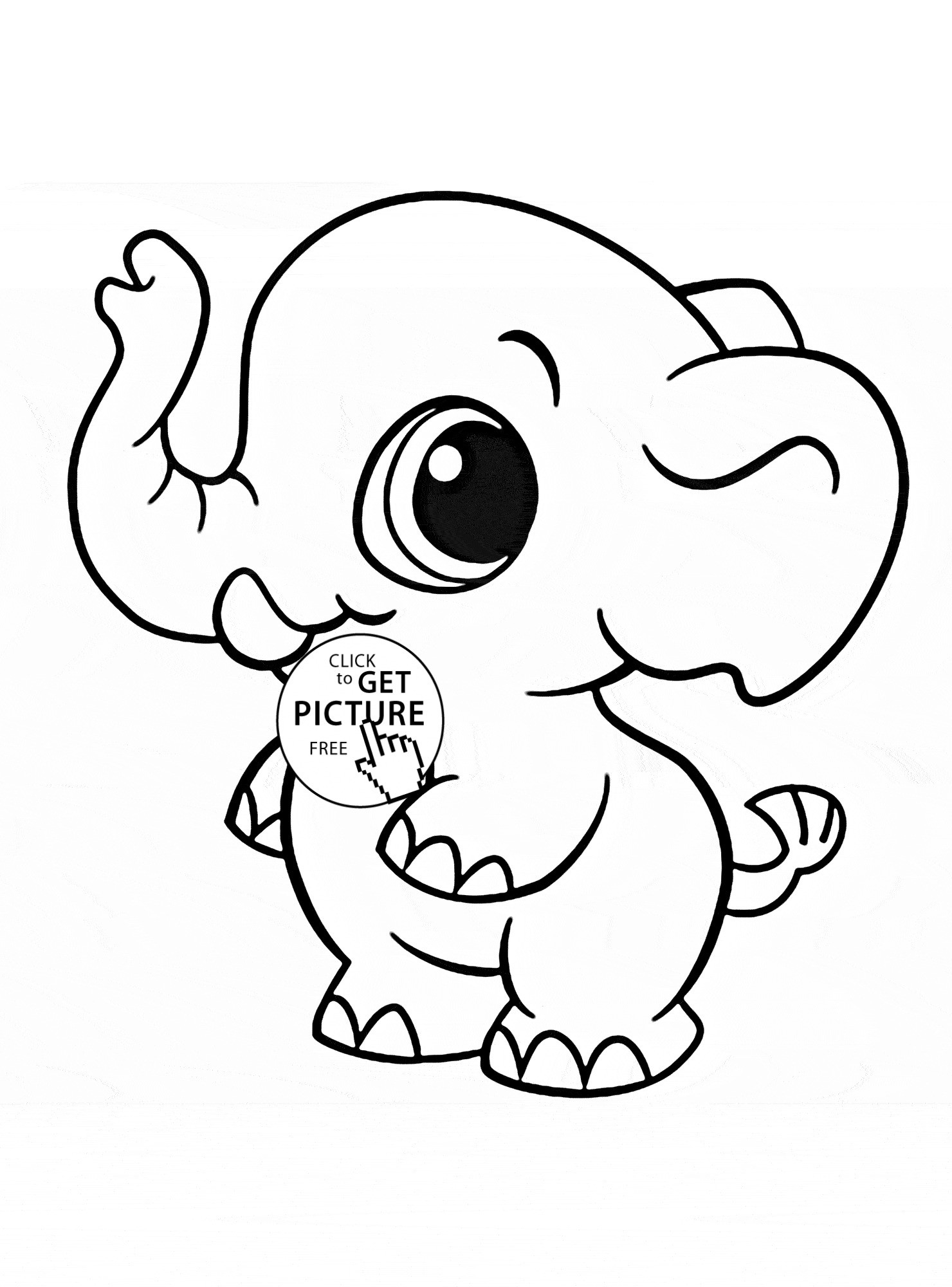 Coloring Page Elephant Wallpaper
