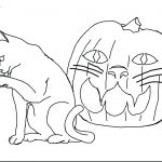 Coloring Pages Of Halloween Cats Coloring Pages Of Halloween Cats