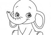 Cute Baby Elephant Coloring Pages Cute Baby Elephant Coloring Pages