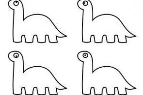 cute dinosaurs coloring page