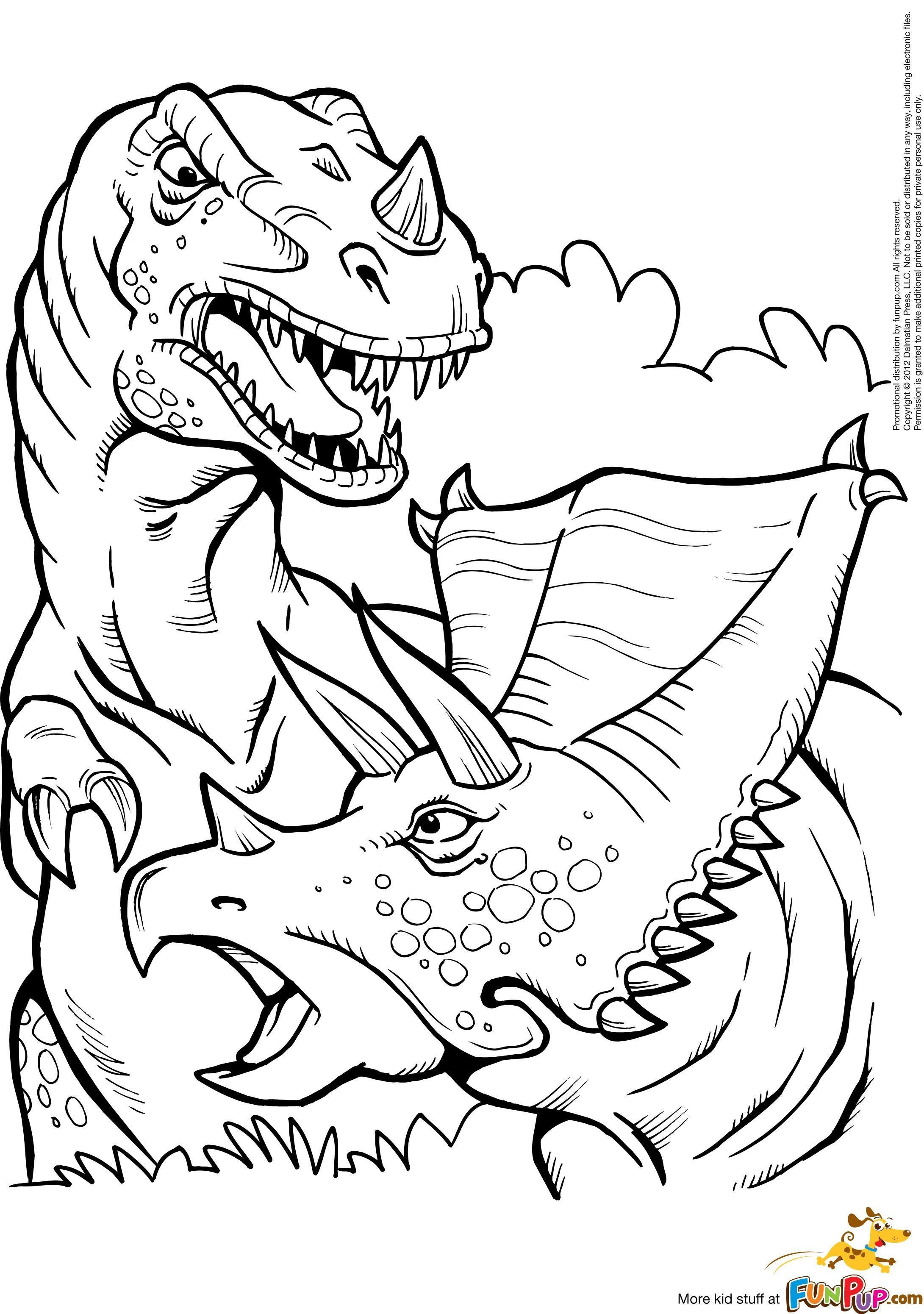 Dino Hunter Coloring Pages Wallpaper
