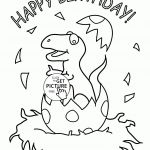 Dinosaur Coloring Pages Happy Birthday Dinosaur Coloring Pages Happy Birthday