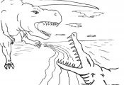 Dinosaurs Fighting Coloring Pages Dinosaurs Fighting Coloring Pages