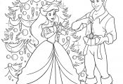 Disney Princess Coloring Pages Christmas Disney Princess Coloring Pages Christmas
