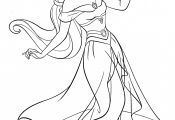 Disney Princess Coloring Pages Jasmine Disney Princess Coloring Pages Jasmine