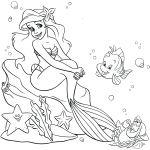 Disney Princess Mermaid Coloring Pages Disney Princess Mermaid Coloring Pages