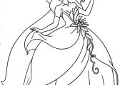 Disney Princess Tiana Coloring Page Disney Princess Tiana Coloring Page