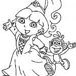 Dora Princess Printable Coloring Pages Dora Princess Printable Coloring Pages