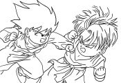 Dragon Ball Z Coloring Page Dragon Ball Z Coloring Page