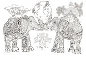 Elephant Adult Coloring Pages Elephant Adult Coloring Pages
