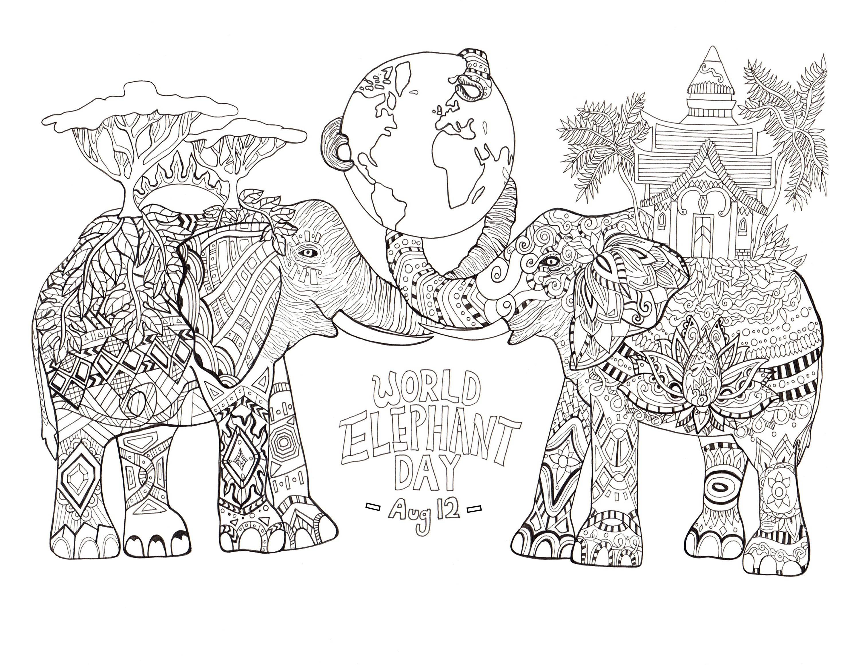 elephant-adult-coloring-pages-of-elephant-adult-coloring-pages Elephant Adult Coloring Pages Animal