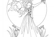 Fairy butterfly Coloring Pages Fairy butterfly Coloring Pages