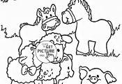 Farm Animal Coloring Sheets Farm Animal Coloring Sheets