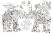 Free Elephant Coloring Pages Free Elephant Coloring Pages