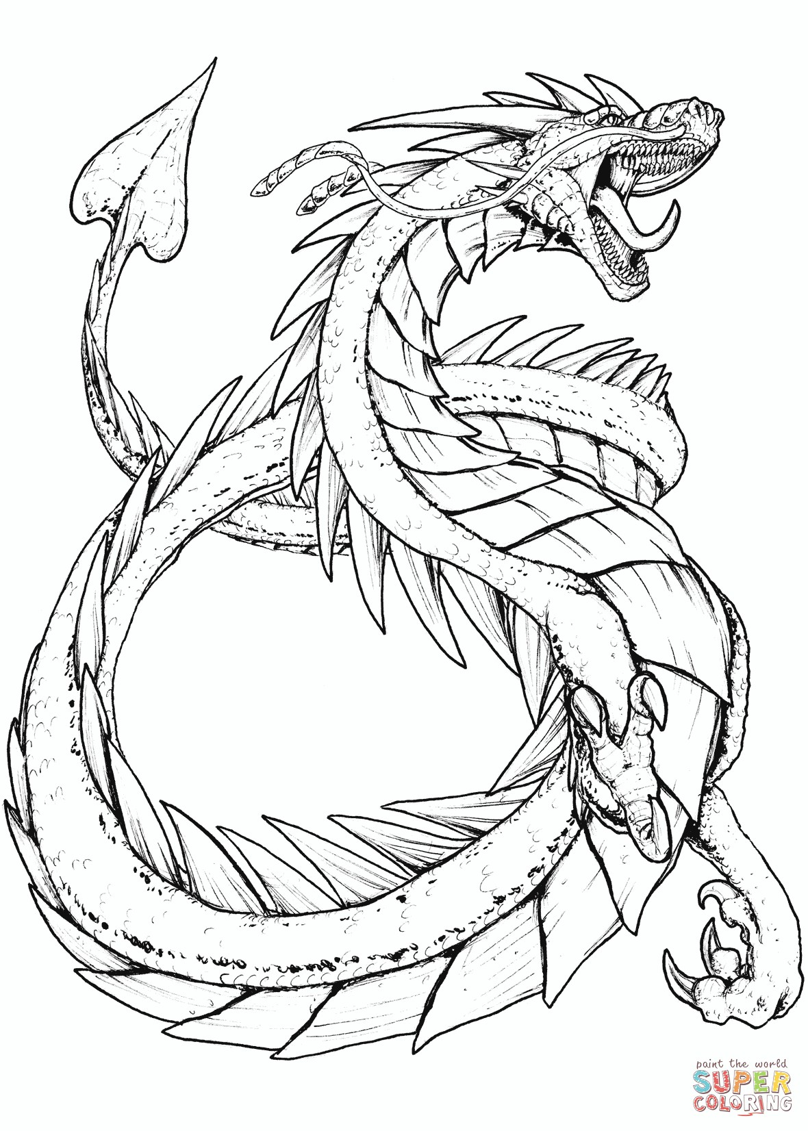Free Printable Coloring Pages Of Dragons - BubaKids.com