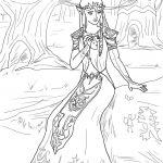 Hard Princess Coloring Pages Hard Princess Coloring Pages