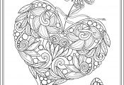 Hearts and butterflies Coloring Pages Hearts and butterflies Coloring Pages