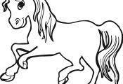 Horse Face Coloring Page Horse Face Coloring Page
