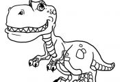 how to draw cute dinosaurs, cute dinosaurs step 17