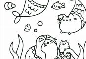 Kawaii Cat Coloring Pages Kawaii Cat Coloring Pages