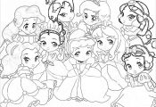 Kawaii Disney Princess Coloring Pages Kawaii Disney Princess Coloring Pages
