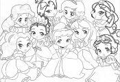 Kawaii Disney Princess Coloring Pages Kawaii Disney Princess Coloring Pages