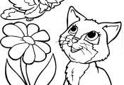 Kitty Cat Coloring Pages Kitty Cat Coloring Pages