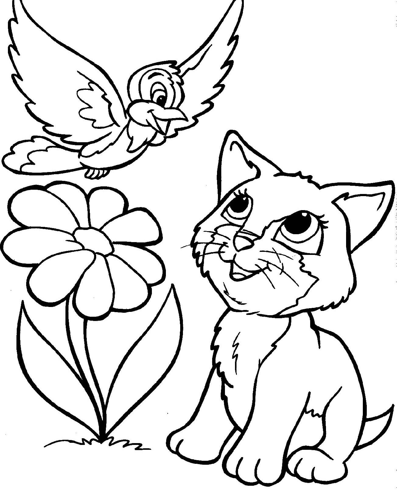 Cat Printable Coloring Pages Best Kitty Cat Coloring Pages 1000—1182