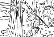 Knight and Princess Coloring Page Knight and Princess Coloring Page